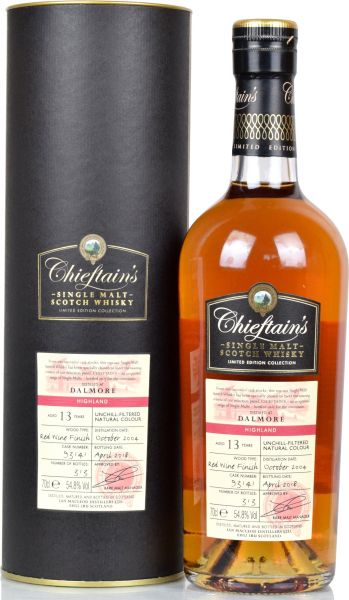 Dalmore 13 Jahre 2004/2018 Red Wine Finish Chieftain's 54,8% vol.