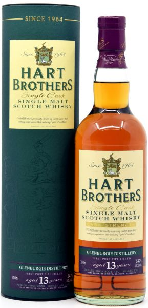 Glenburgie 13 Jahre 2008/2021 1st Fill Port Pipe Hart Brothers 54,2% vol.
