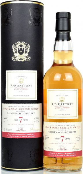 Balmenach 7 Jahre 2010/2018 Oloroso Sherry Finish A.D. Rattray 57,5% vol.