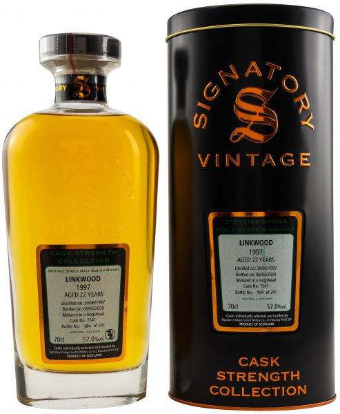 Linkwood 22 Jahre 1997/2020 Signatory Vintage Cask Strength Collection #7541 57% vol.