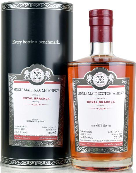 Royal Brackla 10 Jahre 2010/2020 Port Wine Cask Malts of Scotland 54,8% vol.