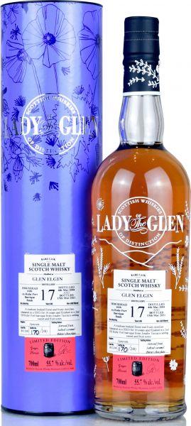 Glen Elgin 17 Jahre 2004/2021 Ruby Port Cask Lady of the Glen 55,7% vol.