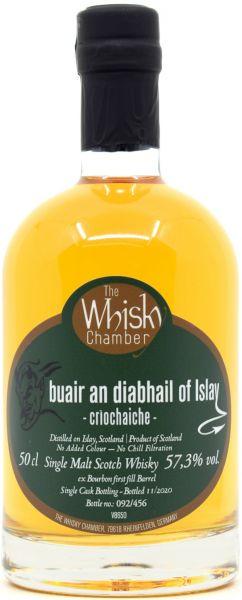 Buair an diabhail of Islay Criochaiche The Whisky Chamber 57,3% vol.