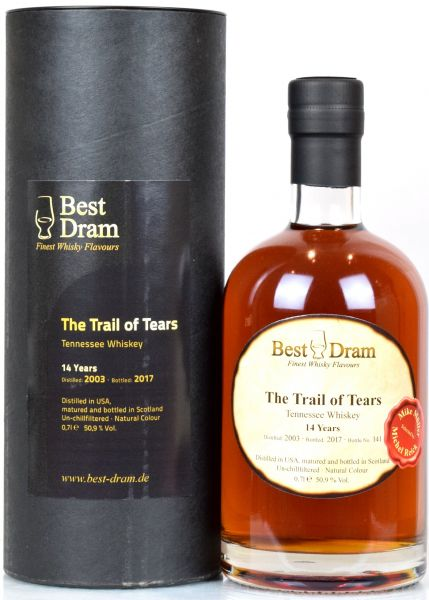 Trail of Tears 14 Jahre 2003/2017 Tennessee Bourbon Best Dram 50,9% vol.