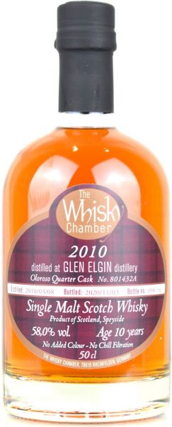 Glen Elgin 10 Jahre 2010/2020 Oloroso Cask The Whisky Chamber 58% vol.
