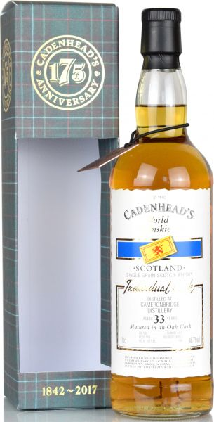 Cameronbridge 33 Jahre 1984/2017 Cadenhead 48,7% vol.