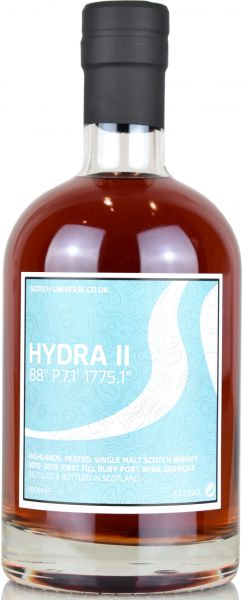 Hydra II 7 Jahre 2010/2019 1st Fill Ruby Port Wine Scotch Universe 63,2% vol.