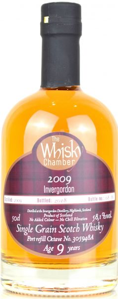 Invergordon 9 Jahre 2009/2019 Refill Port Cask The Whisky Chamber 58,1% vol.