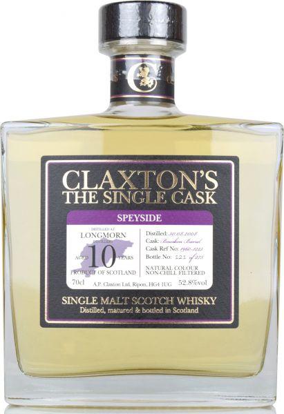 Longmorn 10 Jahre 2008/2019 Claxton's 52,8% vol.