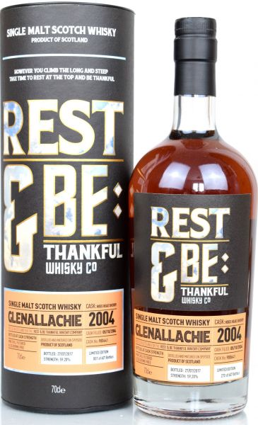 Glenallachie 12 Jahre 2004/2017 Sherry Cask Rest & be Thankful 59,2% vol.