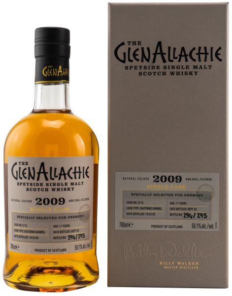 Glenallachie 11 Jahre 2009/2020 Sauternes Single Cask #3715 59,1% vol.