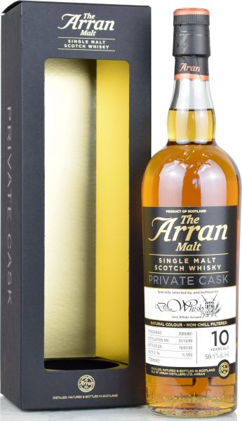 Arran 2009/2020 Sherry Exclusive Cask for deinwhisky.de #881 59,1% vol.