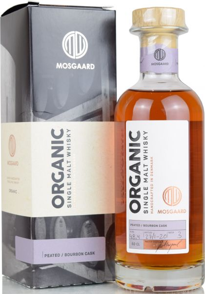 Mosgaard Organic Batch #3 Peated Bourbon Cask 48,4% vol.