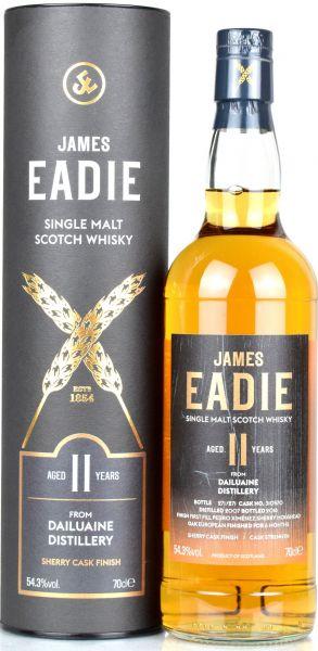 Dailuaine 11 Jahre 2007/2018 1st Fill PX Sherry James Eadie 54,3% vol.