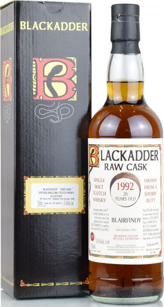 Blairfindy 26 Jahre 1992/2019 Sherry Cask Blackadder Raw Cask 51,6% vol
