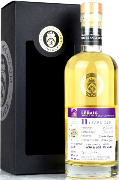 Ledaig 11 Jahre 2007/2019 House of McCallum #638/639 46,5% vol.