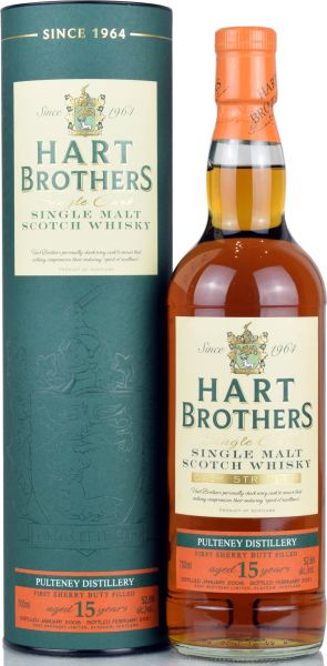 Pulteney 15 Jahre 2006/2021 1st Fill Sherry Butt Hart Brothers 52,6% vol.