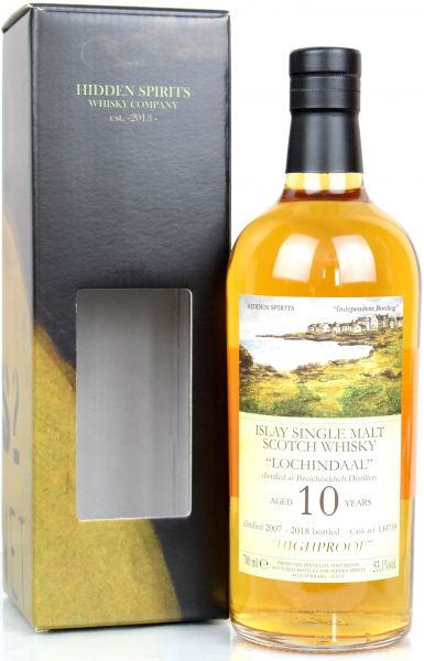Lochindaal (Bruichladdich) 10 Jahre 2007/2018 Hidden Spirits Highproof