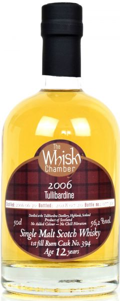 Tullibardine 12 Jahre 2006/2018 Rum Cask The Whisky Chamber 56,2% vol.