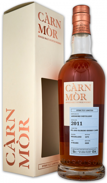 Ardmore 9 Jahre 2011/2020 Sherry Cask Carn Mor Strictly Limited 47,5% vol.