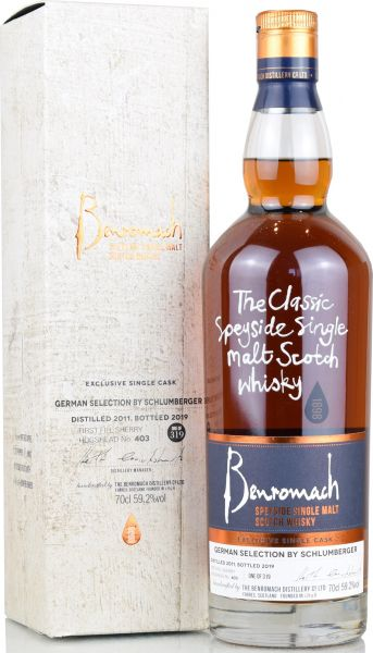 Benromach 2011/2019 1st Fill Sherry Single Cask German Selection 59,1% vol.