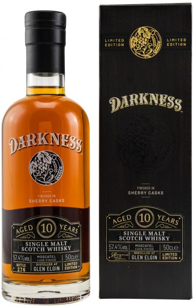 Glen Elgin 10 Jahre Moscatel Cask Finish Darkness! 57,4% vol.