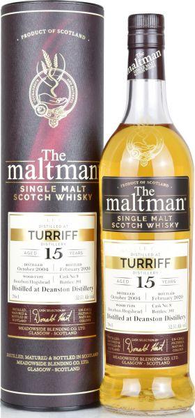 Turriff (Deanston) 15 Jahre 2004/2020 The Maltman 52,5% vol.