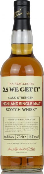 As we get it! Highland Sherry Casks 66,8% vol.