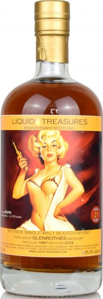 Glenrothes 21 Jahre 1997/2019 Liquid Treasures Anniversary Bottling 55,8% vol.