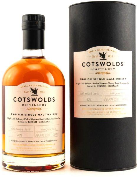 Cotswolds 2015/2019 PX Sherry Single Cask 59,7% vol.