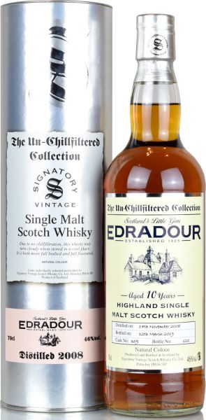 Edradour 10 Jahre 2008/2019 SV Un-Chillfiltered Collection #359