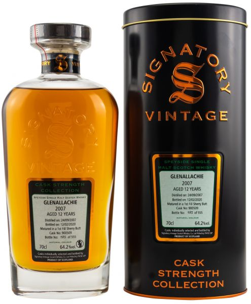 Glenallachie 12 Jahre 2007/2020 1st Fill Sherry Signatory Vintage Cask Strength Collection #900509