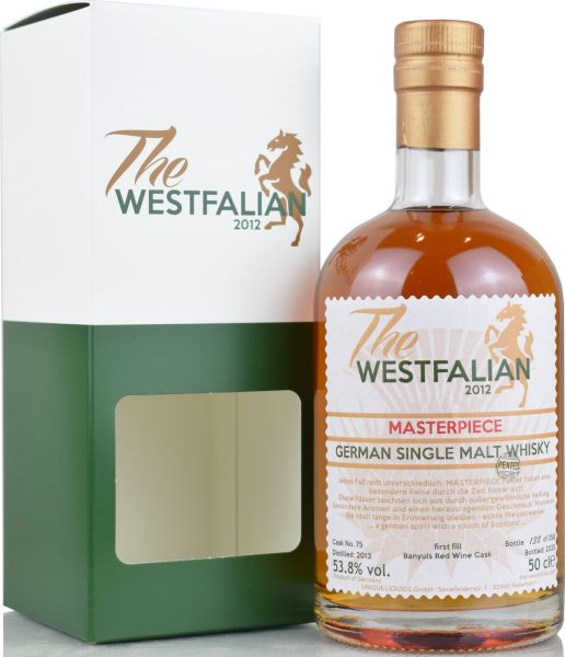 The Westfalian Masterpiece peated 2013/2020 1st Fill Banyuls Casks #75 53,8% vol.