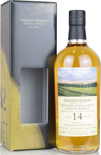 Tomintoul 14 Jahre 2005/2020 Peated Cask Hidden Spirits Highproof 52,6% vol.