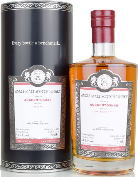 Auchentoshan 20 Jahre 2000/2020 Sherry Cask Malts of Scotland 51,5% vol.