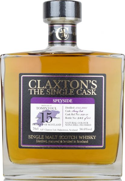 Tomintoul 15 Jahre 2005/2020 Sherry Cask Claxton's 56,6% vol.