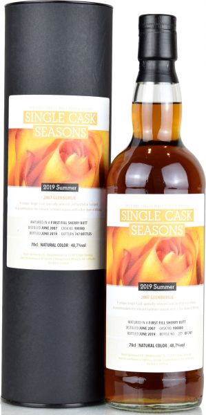 Glenburgie 12 Jahre 2007/2019 1st Fill Sherry Single Cask Seasons Summer 2019 48,7% vol.