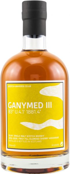 Ganymed III 2013/2020 1st Fill Oloroso Sherry Scotch Universe 67,6% vol.