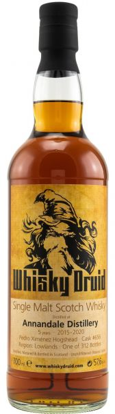Annandale Peated 5 Jahre 2015/2020 PX Sherry Cask Whisky Druid 57,6% vol.