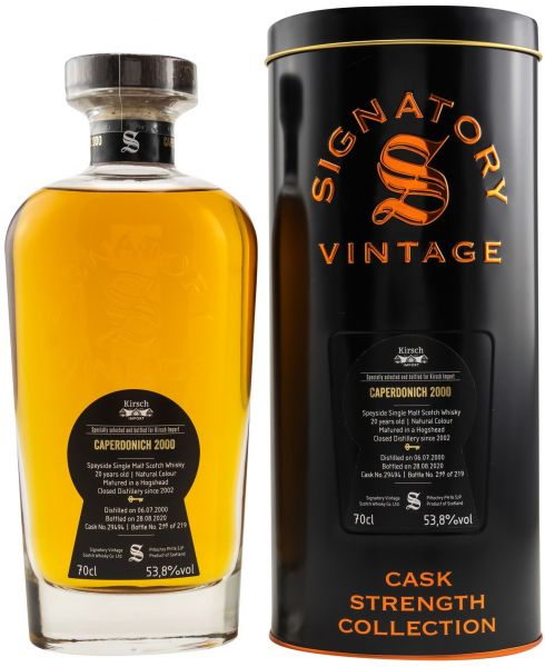 Caperdonich 2000/2020 Signatory Vintage Cask Strength for Germany 53,8% vol.