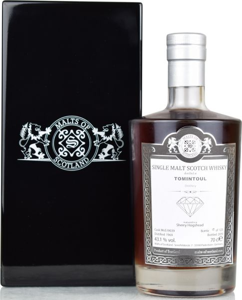 Tomintoul 50 Jahre 1969/2019 Sherry Cask Warehouse Diamonds Malts of Scotland 43,1% vol.