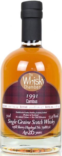 Cambus 26 Jahre 1991/2018 Sherry Cask The Whisky Chamber 53,9% vol.