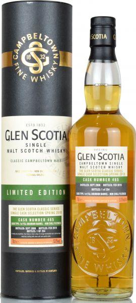 Glen Scotia 2008/2019 1st Fill Bourbon Single Cask #465 53% vol.