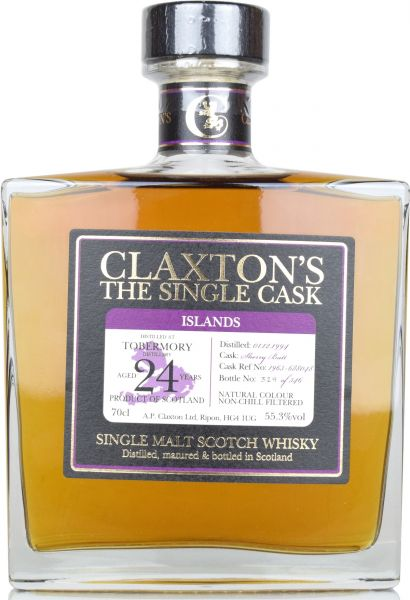 Tobermory 24 Jahre Sherry Butt 1994/2019 Claxton's 55,3% vol.