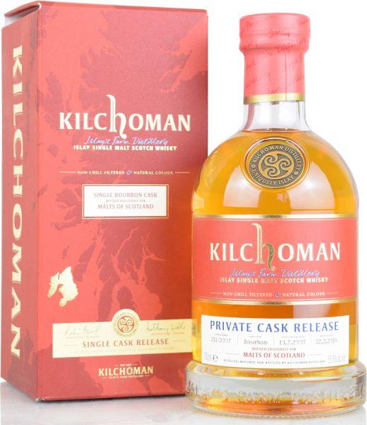 Kilchoman 11 Jahre 2007/2019 Private Cask Malts of Scotland 55,6% vol.