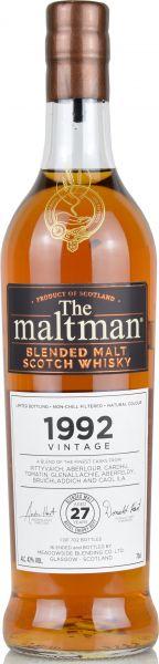 The Maltman 1992 Vintage Blended Malt Meadowside Blending 42% vol.