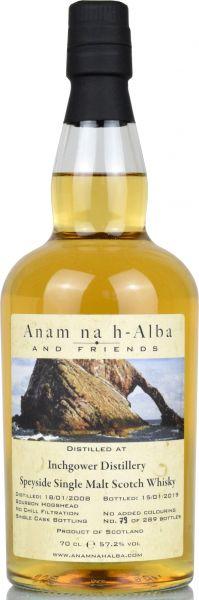Inchgower 10 Jahre 2008/2018 Anam na h-Alba 57,2% vol.