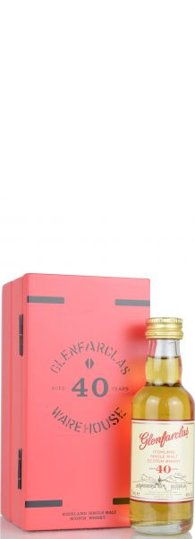 Glenfarclas 40 Jahre Red Warehouse Door Miniatur 5cl 46% vol.