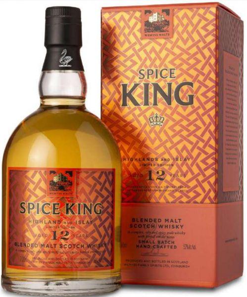"""Spice King 12 Jahre """"Highland und Islay"""" Wemyss Malts 52% vol."""