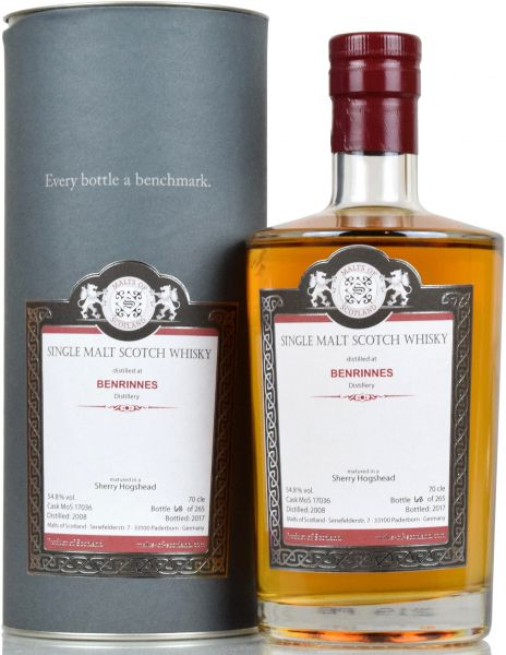 Benrinnes 9 Jahre 2008/2017 Sherry Hogshead Malts of Scotland